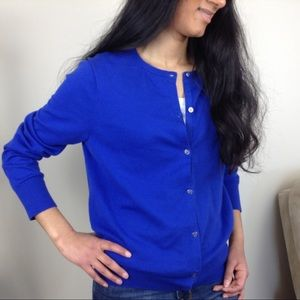 Sweaters - Blue Land's End Cardigan!